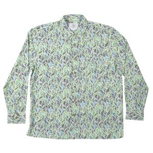 Men's Long Sleeve Bamboo Shirt - Green Leaf